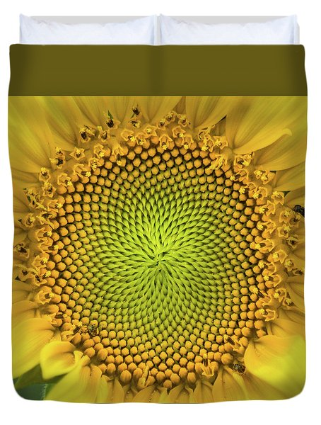 Duvet Cover featuring the photograph Mesmerizing by Bill Pevlor