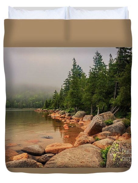 Mesmerizing Jordan Pond Duvet Cover