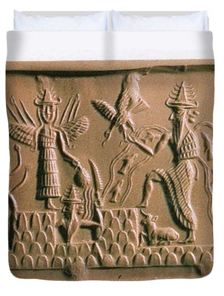 Mesopotamian Gods Duvet Cover