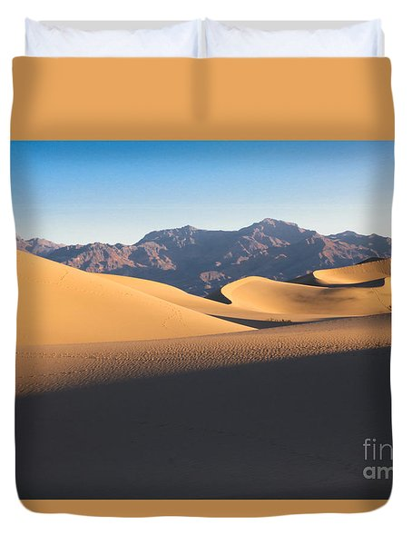Mesquite Dunes At Dawn Duvet Cover