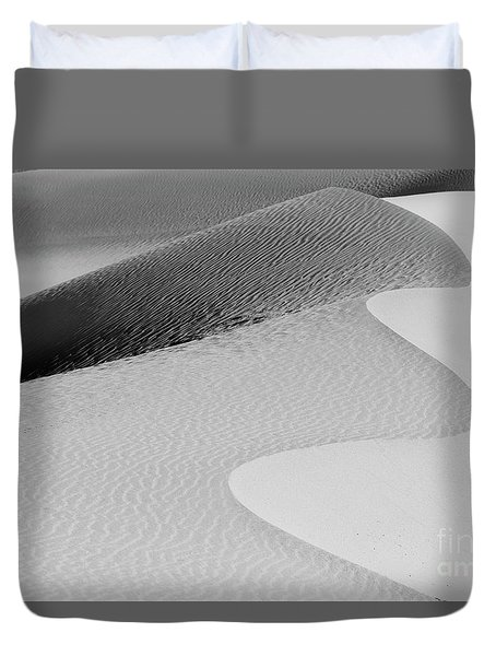 Duvet Cover featuring the photograph Mesquite Dunes Patterns by Sandra Bronstein