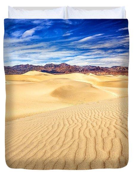Mesquite Flat Sand Dunes In Death Valley Duvet Cover