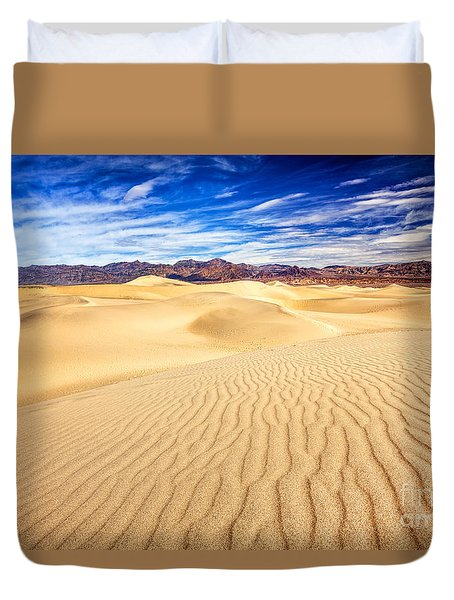 Mesquite Flat Sand Dunes In Death Valley Duvet Cover