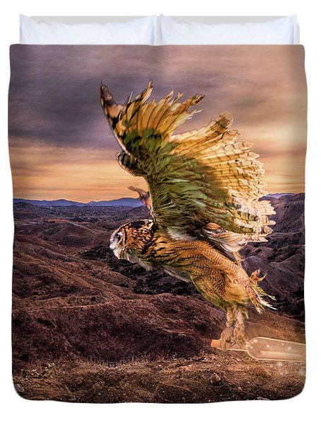 Duvet Cover featuring the digital art Messenger Of Hope by Nicole Wilde