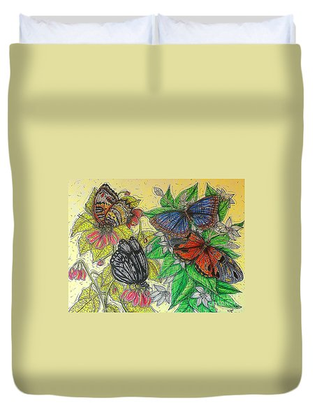 Messengers Of Beauty Duvet Cover