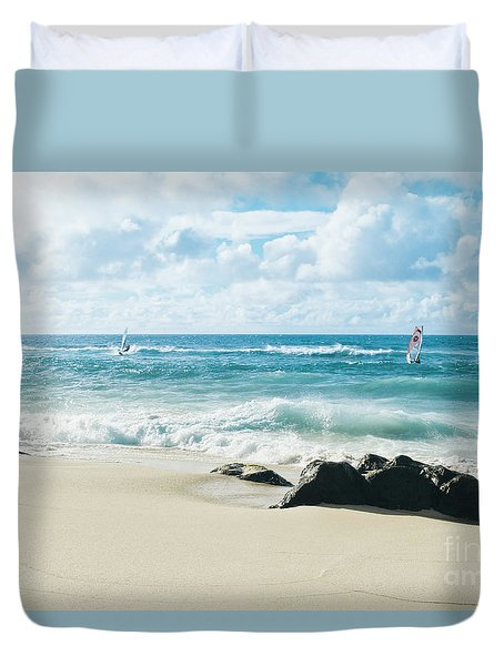 Duvet Cover featuring the photograph Messengers Of Light by Sharon Mau
