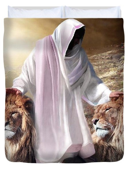 Messiah Israel And Judah Duvet Cover by Bill Stephens