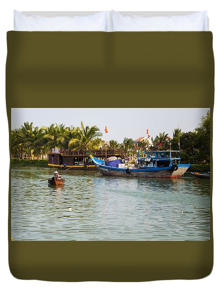 Duvet Cover featuring the photograph Messing About On The River by Rob Hemphill