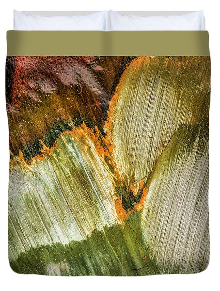 Duvet Cover featuring the photograph Metal Abstract  by David Waldrop