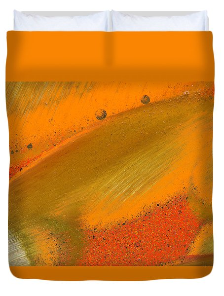 Duvet Cover featuring the photograph Metal Abstract Four by David Waldrop