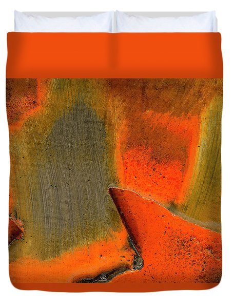 Duvet Cover featuring the photograph Metal Abstract Three by David Waldrop