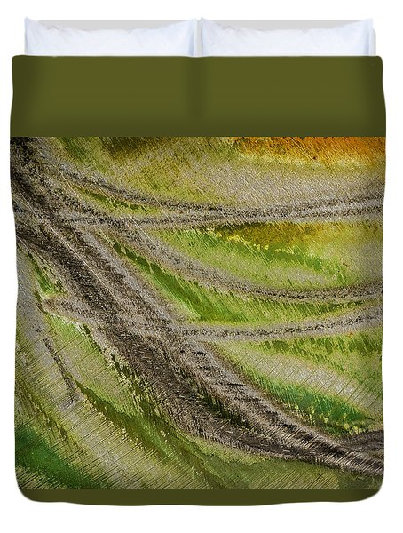 Duvet Cover featuring the photograph Metal Abstract Two by David Waldrop