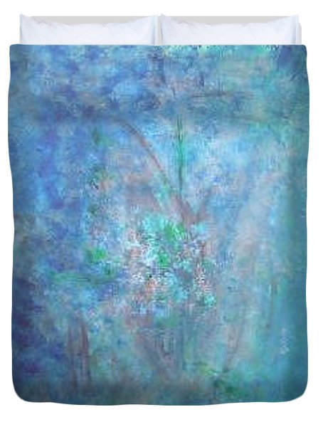 Metal And Water Abstract. Duvet Cover by Lizzy Forrester