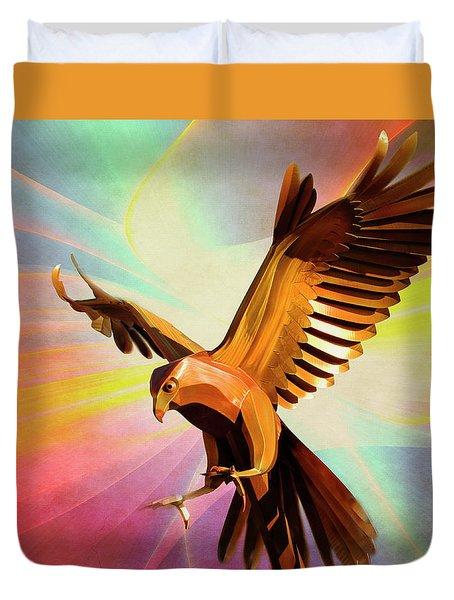 Metal Bird 1 Of 4 Duvet Cover
