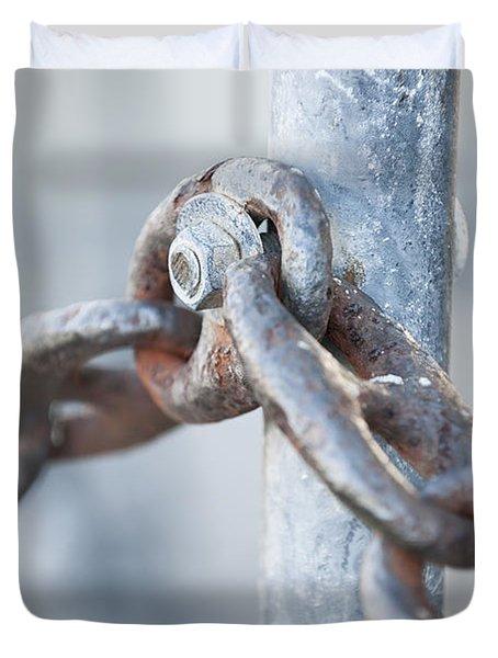 Metal Chain Railing Fragment Duvet Cover