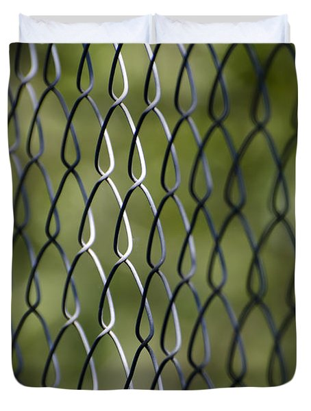 Metal Fence Duvet Cover
