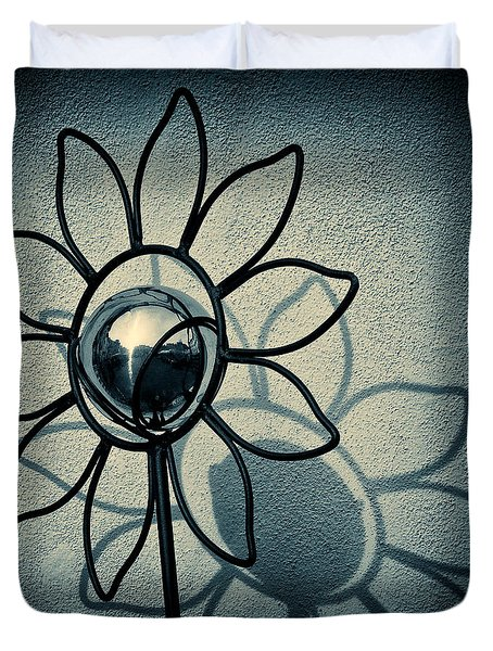 Metal Flower Duvet Cover by Dave Bowman