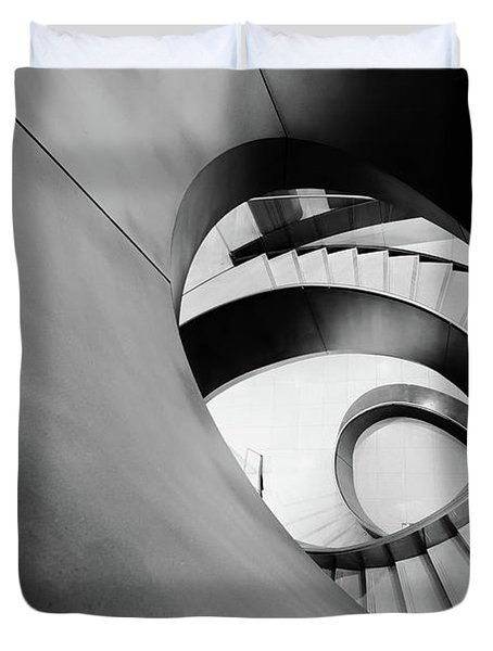Metal Spiral Staircase London Duvet Cover