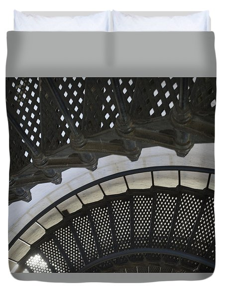 Metal Stair Case Duvet Cover by Linda Geiger