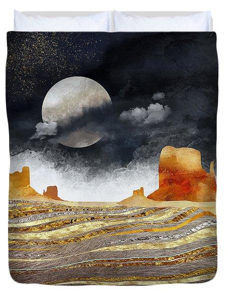 Metallic Desert Duvet Cover