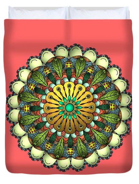 Metallic Mandala Duvet Cover