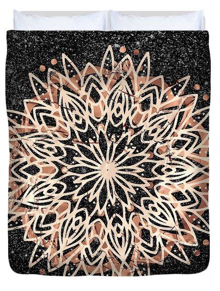 Metallic Mandala Duvet Cover