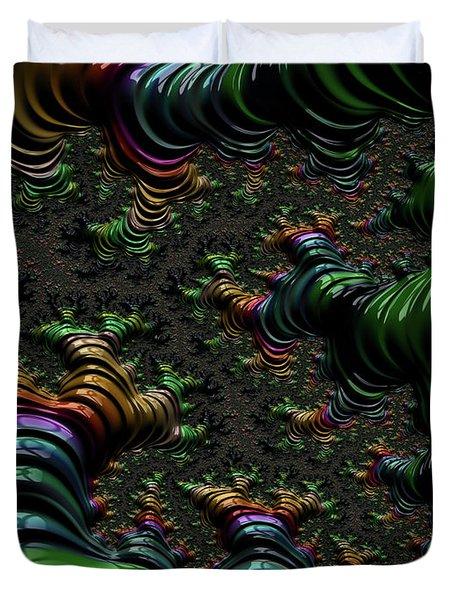 Metallic Roots Duvet Cover by Rajiv Chopra