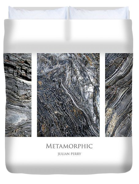 Duvet Cover featuring the digital art Metamorphic by Julian Perry