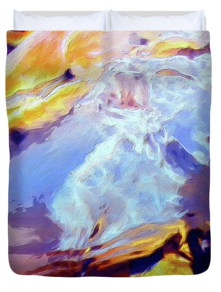 Duvet Cover featuring the painting Metamorphosis by Dominic Piperata