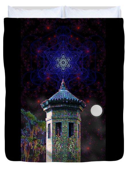 Metatron Nocturnal Duvet Cover by Iowan Stone-Flowers