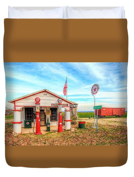 Metcalfe Station Duvet Cover by Marion Johnson