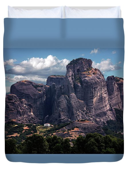 Meteora At Dawn Duvet Cover