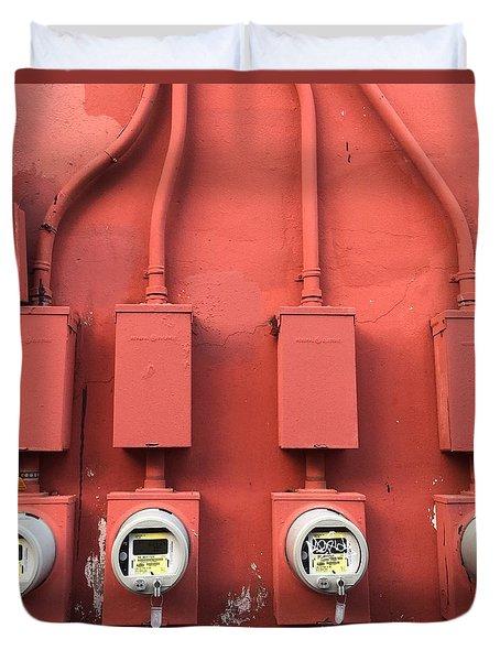Meter Reader Red 2 Duvet Cover