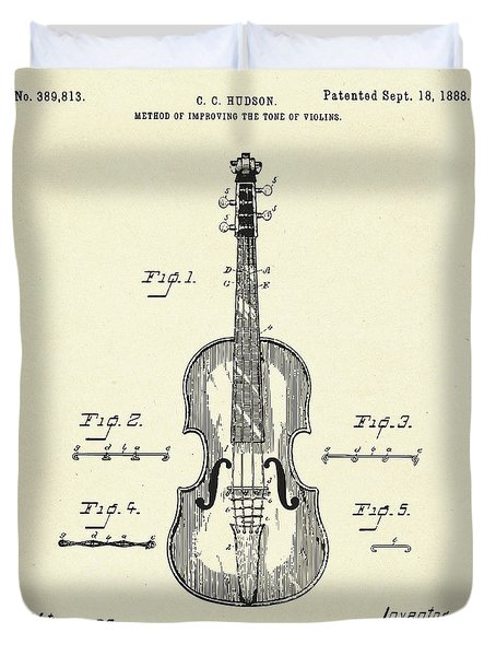 Method Of Improving The Tone Of Violins-1888 Duvet Cover