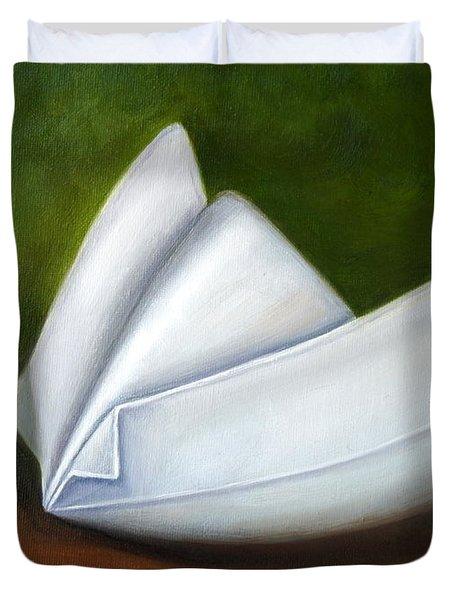 Methodist-kahler School Of Nursing Duvet Cover by Marlyn Boyd