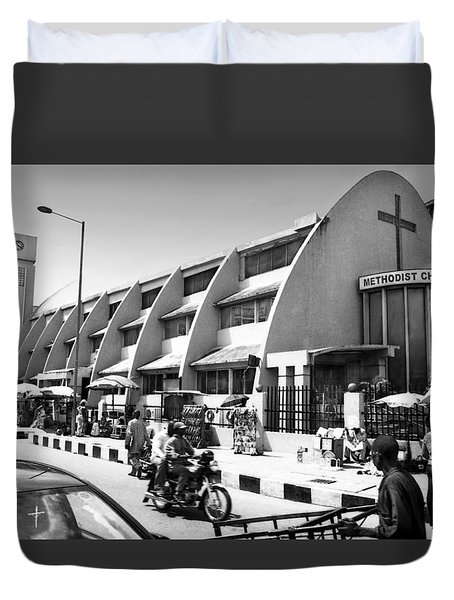 Methodist Church, Tinubu Square Duvet Cover
