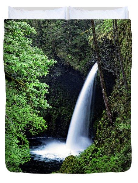 Metlako Falls Waterfall Art By Kaylyn Franks Duvet Cover