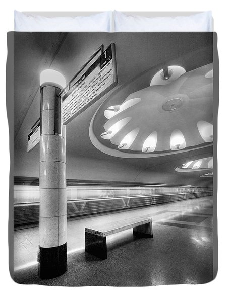 Metro #1591 Duvet Cover by Andrey Godyaykin