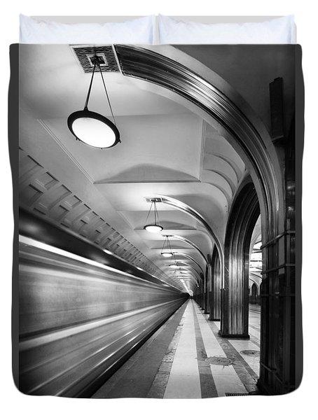 Metro #5147 Duvet Cover by Andrey Godyaykin
