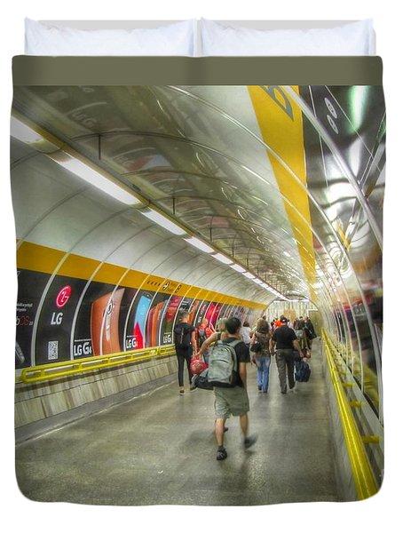 metro Budapesht Duvet Cover by Yury Bashkin