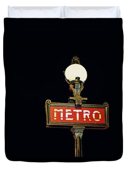 Metro - Paris France Duvet Cover