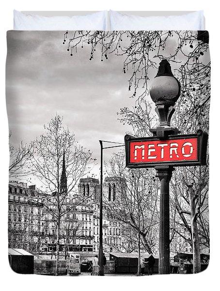 Metro Pont Marie Duvet Cover