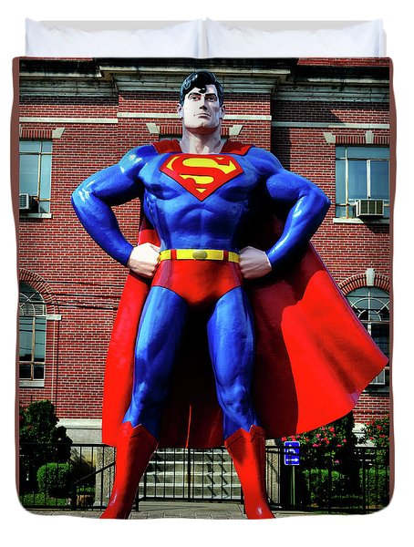 Metropolis - Home Of Superman 001 Duvet Cover