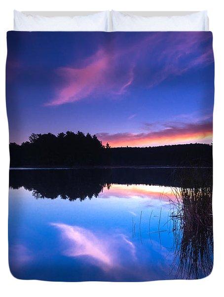 Mew Lake Sunset Duvet Cover