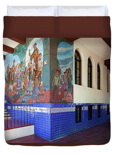 Duvet Cover featuring the photograph Mexican Cultural Institute Los Angeles - Instituto Cultural Mexicano De Los Angeles by Ram Vasudev