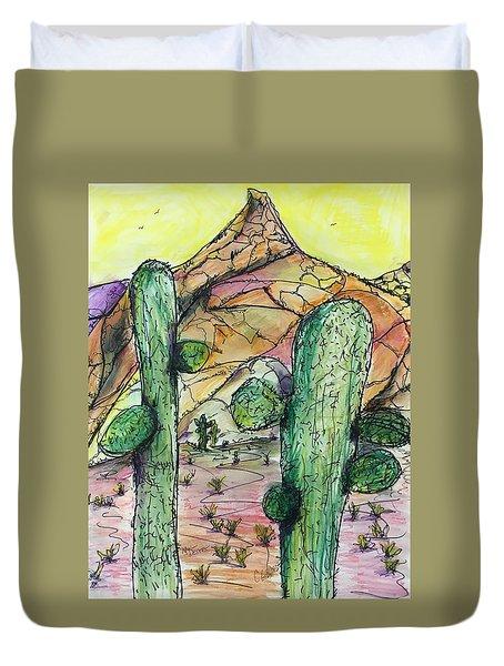 Mexican Desert Duvet Cover