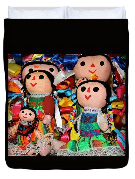 Mexican Dolls Duvet Cover