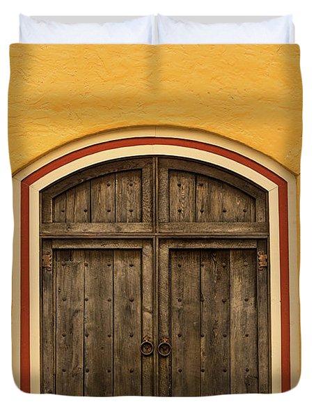 Mexican Door Duvet Cover