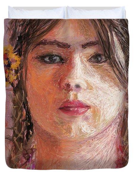 Mexican Girl Duvet Cover