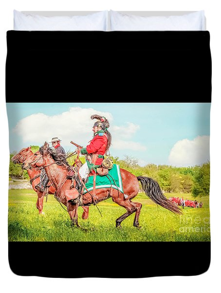 Mexican Horse Soldiers Duvet Cover by Kim Henderson